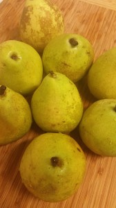 fresh, juicy d'Anjou pears