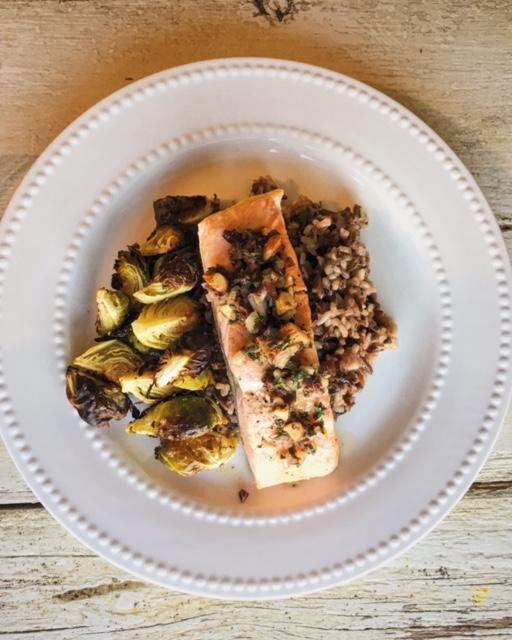 dietitian, nutrition, nutritionist, recipe, salmon, chef, health, wellness, healthy kitchen, orange, herbs, dinner, entree, omega-3