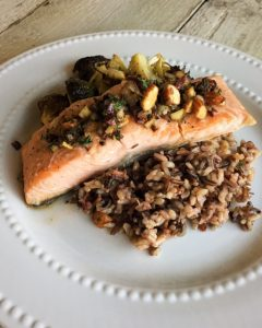 nutrition, dietitian, culinary, nutritionist, chef Portsmouth, New Hampshire, healthy kitchen, wellness, salmon, orange, herbs, entree, dinner